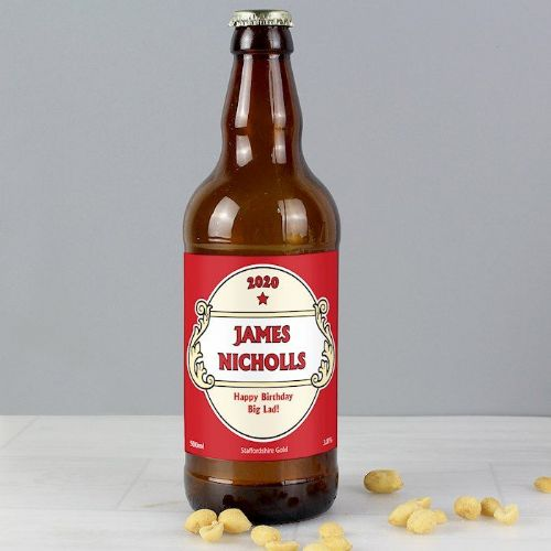 Personalised Red Crest Beer